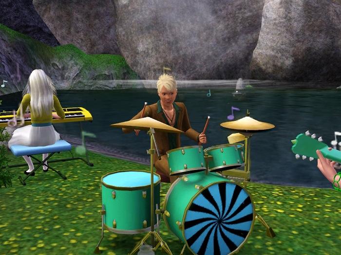 SIMS3でドラムを叩くラムリーザ